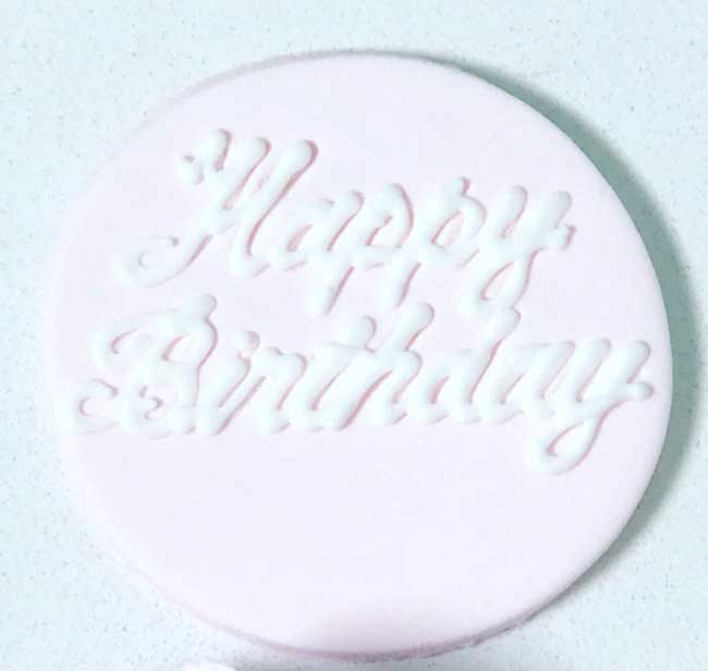 Cupcake Topper Baby Pink (standard)