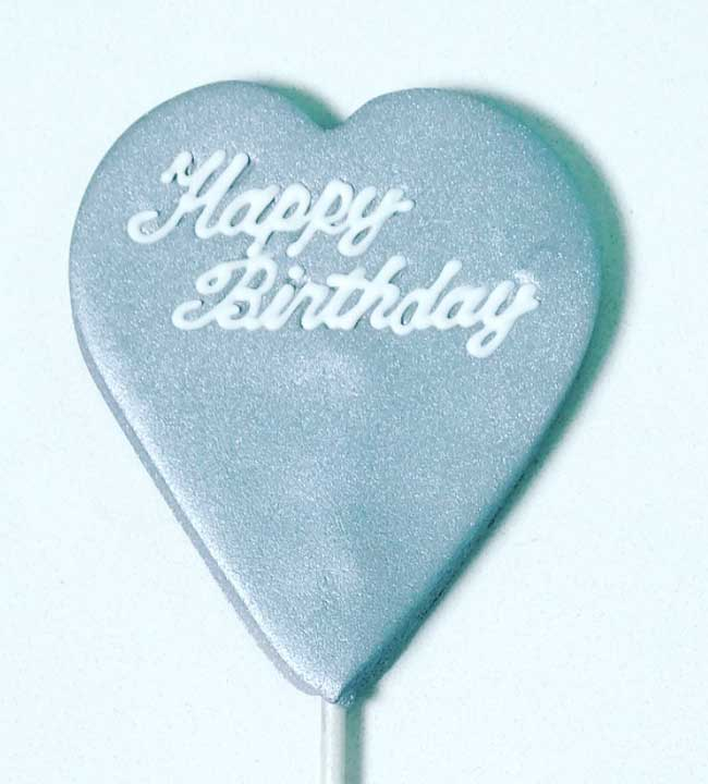 Cake Topper Silver (heart shape topper)