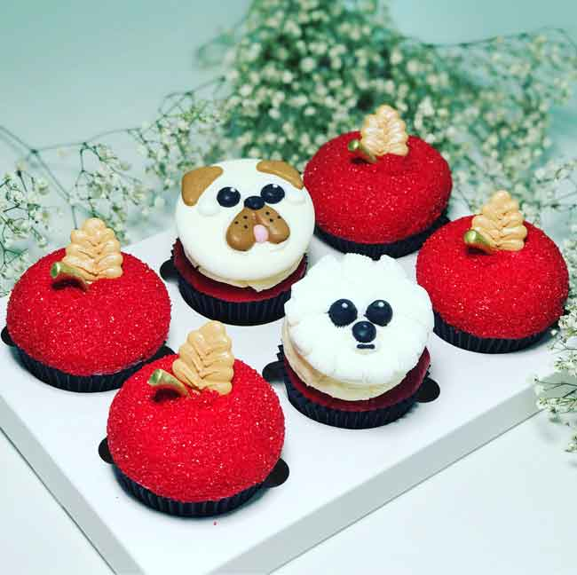 Cupcakes Cakes Sydney Delivery Chinese New Year Cupcakes Dog Year