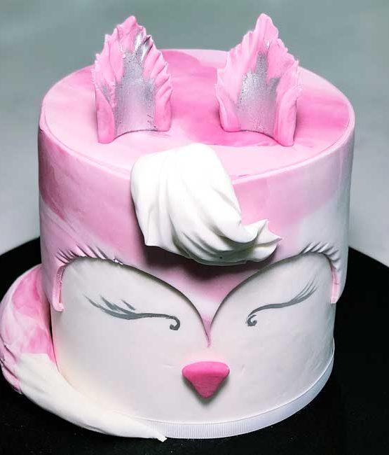 Pink Fox Birthday Cake Cbd Delivery Birthday Cakes 7 Days Delivery