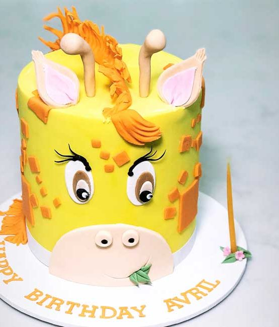 Giraffe Birthday Cake Cbd Delivery Sydney Kids Birthday Cakes