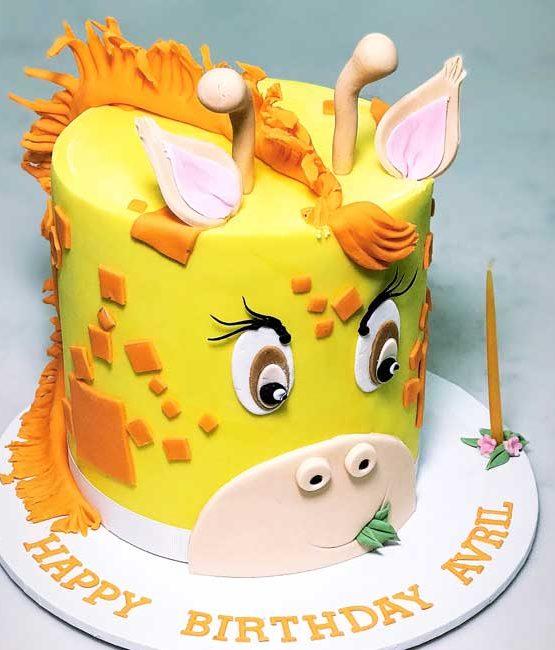 Giraffe Birthday Cake Cbd Delivery Sydney Kids Birthday Cakes